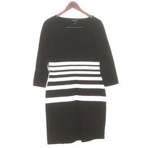 RALPH LAUREN Womens Dress L Striped Knit Sweater
